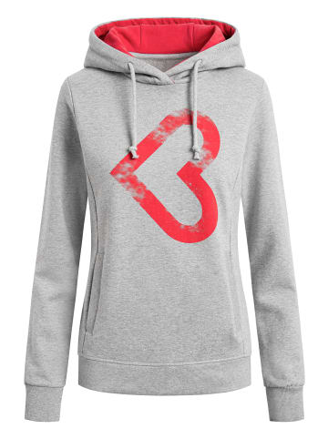 Shirts for Life Sweatshirt Leonie Lieblingsplatz in grau meliert