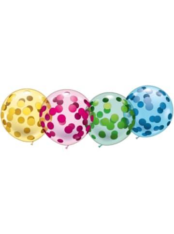 """Karaloon 4 Riesen-Kristallballons """"Konfetti"""""""
