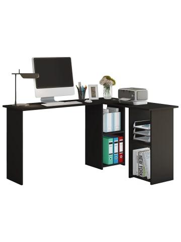 VCM  Holz Eckschreibtisch Computertisch Lusias in Schwarz