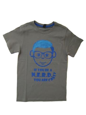 Streetkids Jungen T-Shirt Nerd CRAZY in fossil gray
