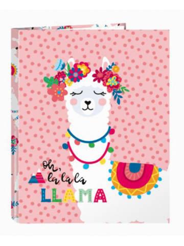 "Safta Ringbuch/Zeugnismappe glowlab ""Llama"""