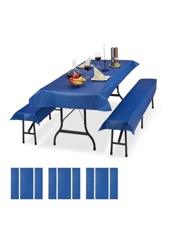 Relaxdays 12x Bierzeltgarnitur Auflage in Blau