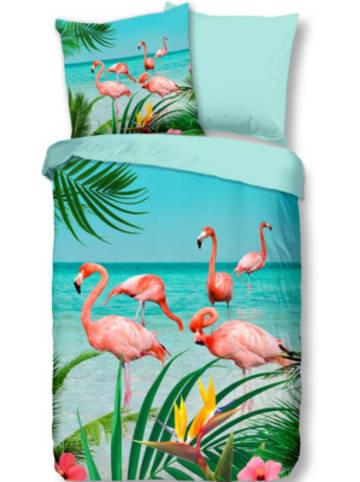 """Pure Wende-Bettwäsche """"Flamingo"""", 135x200 cm"""