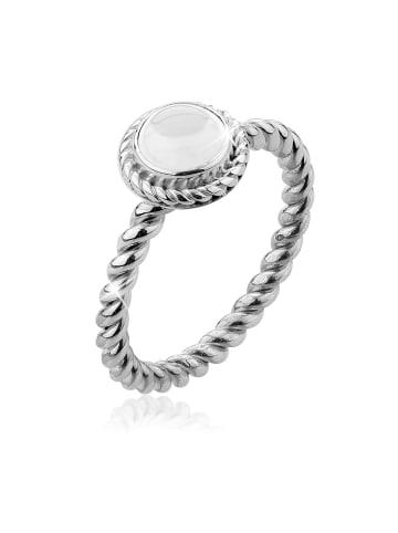 Nenalina Ring 925 Sterling Silber Edelstein Ring, Geburtsstein, Geburtsstein - April in Weiß