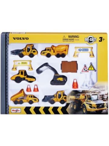 """Maisto Volvo Baufahrzeuge 8cm """"Play-Set"""" mit 6 Fahrzeugen"""