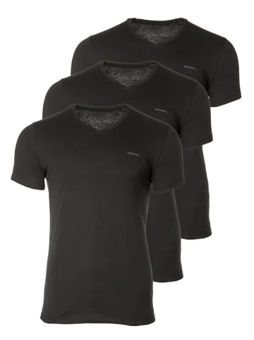 Diesel T-Shirt 3er Pack in Schwarz