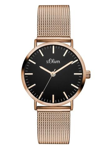 S.Oliver Time Armbanduhr in rosé