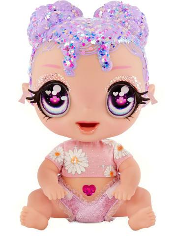 MGA Glitter Babyz Doll - Lila Wildbloom (Lavender/Flower)