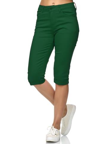 Simply Chic Kurze Capri Jeans Shorts Sommer Bermuda 3/4 Hose in Grün