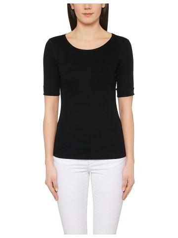MARC CAIN Rundhals T-Shirt in schwarz