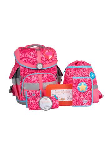 "SCHOOL-MOOD 7 tlg. Set: Schulranzen Timeless Air ""CAMILLA"" in Pink"