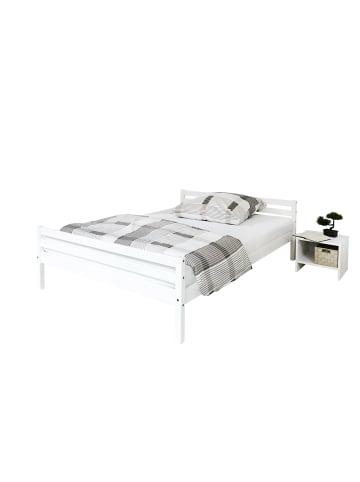TICAA Einzelbett Doppelbett Nadine 140x200 in Weiß