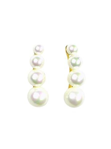 Perlas Orquidea  Perlenohrringe Luna Earrings in weiß