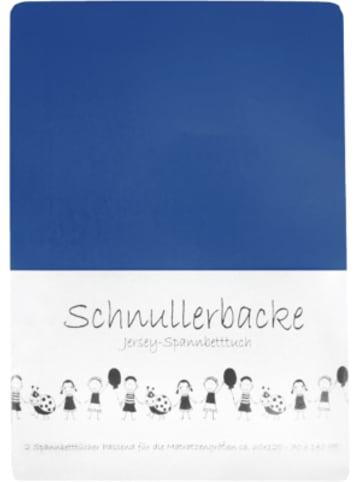 Schnullerbacke Spannbettlaken blau 2er Set, Jersey, 70 x 140 cm