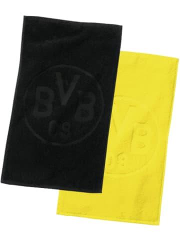 Borussia Dortmund Gästehandtücher BVB-Logo, Doppelpack, schwarz/gelb, 30 x 45 cm