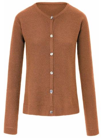 PETER HAHN Strickjacke new wool in kastanie-m