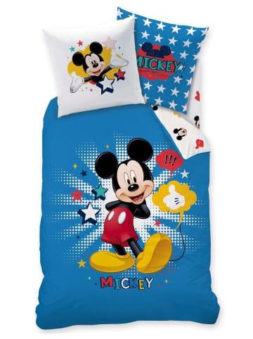 "Disney Mickey Mouse Kinder Bettwäsche-Set ""Disney's Mickey Mouse"" in Blau / Weiß"