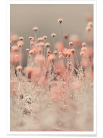 """Juniqe Poster """"Pink Angel"""" in Braun & Orange"""