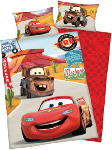 Herding Kinder-Wendebettwäsche Disney Cars, Renforcè, 100 x 135 + 40 x 60 cm
