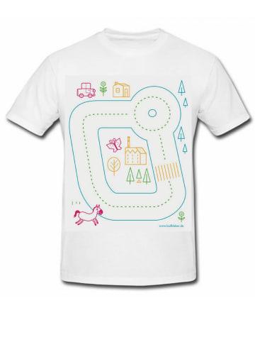 Laufkleber Kindershirt Spielstraße in Weiß/Bunt