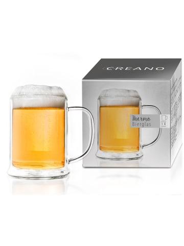 Creano Thermo- Bierglas doppelwandiges Bierglas  - 500ml