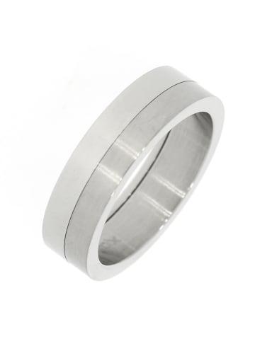 """Gooix Ring """"mattiert / poliert 6 mm"""" in silber"""