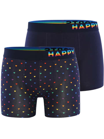 Happy Shorts Boxershorts Trunks #2 in Navy/Multi