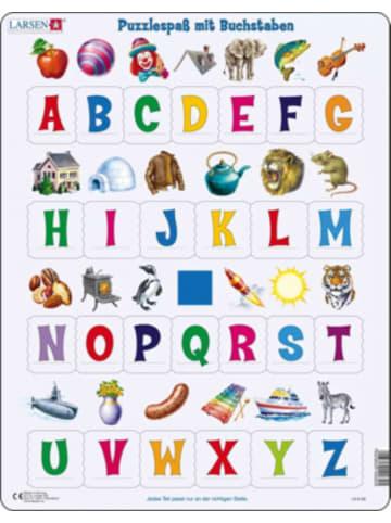 Larsen Rahmen-Puzzle, 26 Teile, 36x28 cm, Puzzlespaß mit Buchstaben