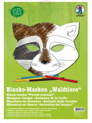 URSUS Kreativset Blanko-Masken Waldtiere, 6 Stück