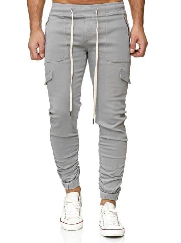 Leo Gutti Jeans Jogger Hose Cargo Fit in Grau