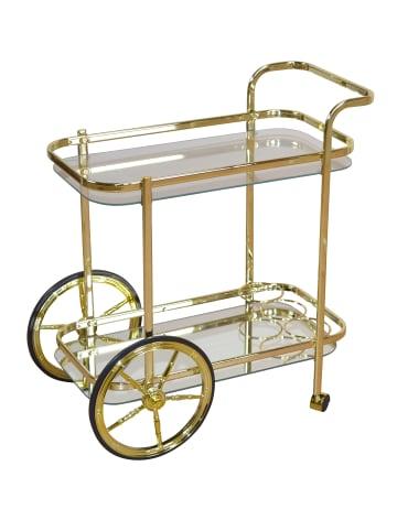 Möbel-direkt Servierwagen, Teewagen Servierwagen in gold