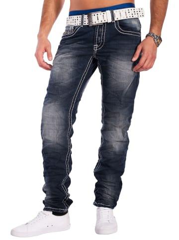 Jeansnet Jeans Hose Look in Blau