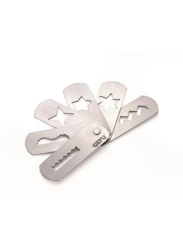 GEFU Spritzgebäckvorsatz TRICA Gr. 5 (passt auch auf Kitchen-Aid) in silber