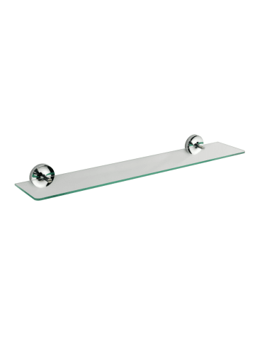 Wenko Power-Loc® Glas Wandablage Arcole, Befestigen ohne bohren in Chrom
