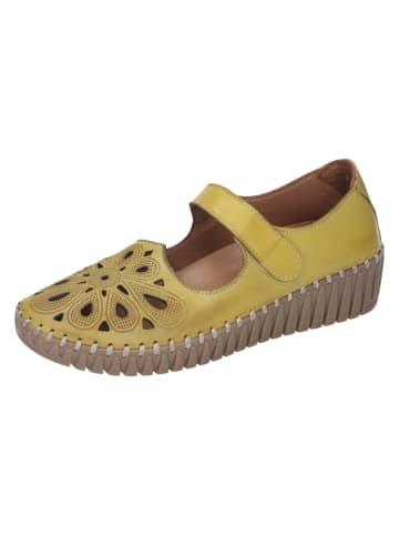 Manitu Klettverschluss-Schuhe in gelb