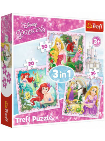 Trefl 3in1 Puzzle 20/36/50 Teile - Disney Princess