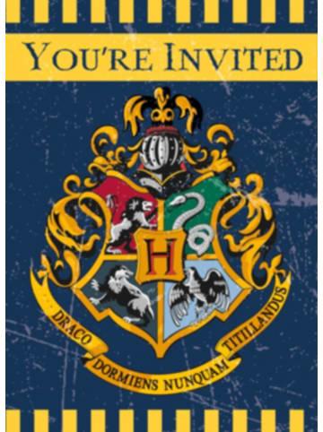 Partystrolche Einladungskarten Harry Potter, 8 Stück inkl. Umschläge