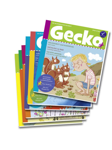 """Gecko Kinderzeitschrift Jahresabo """"Gecko Kinderzeitschrift"""" - 6 Hefte"""
