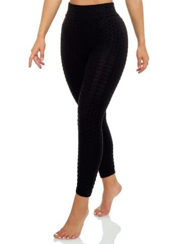 Arizona-Shopping Stretch Fitness Leggings High Waist Elastische Hose in Schwarz