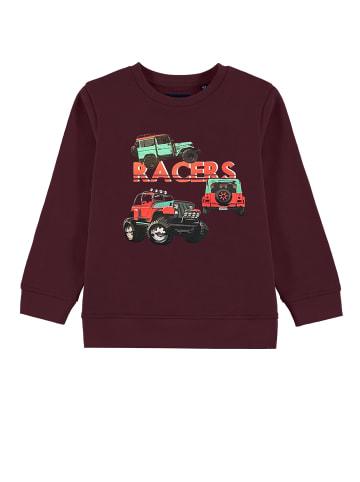 TOM TAILOR kids Sweatshirt mit Print in new bordeaux