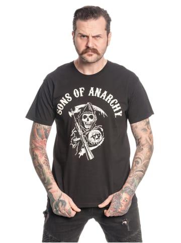 Fox T-Shirt Sons of Anarchy Reaper Logo in schwarz