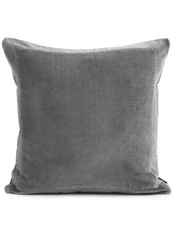 Turiform Kissenbezug Stilvoller Kissenbezug in Baumwollsamt in grau