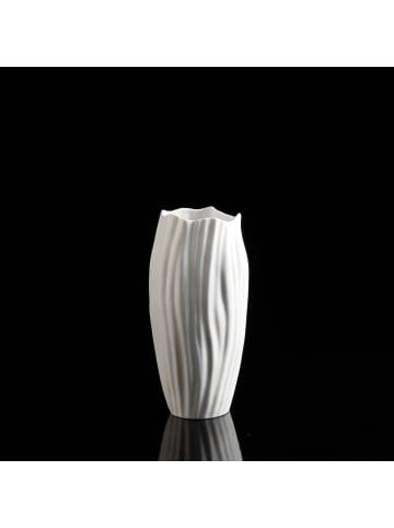 """Kaiser Porzellan Vase """" Spirulina """" in weiß"""