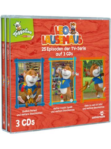 LEO LAUSEMAUS CD Leo Lausemaus Hörspielbox, 3 Audio-CD