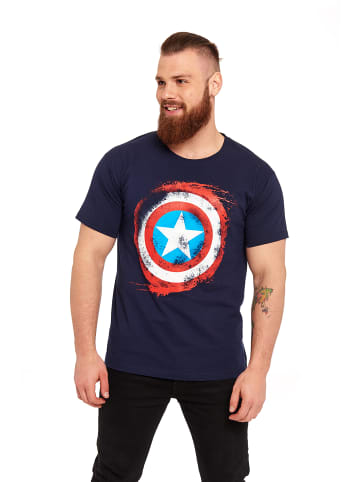 MARVEL Captain America T-Shirt Sign in dunkelblau