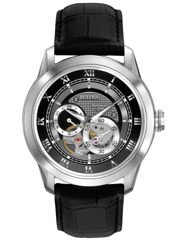 Bulova Herrenuhr Classic Automatic Schwarz / Silber