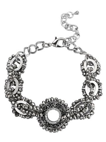 Love Inspiration Armband mit Glaskugeln in Grau