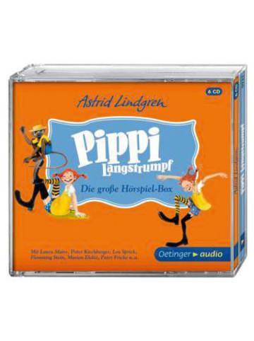 Pippi Langstrumpf Pippi Langstrumpf: Die grosse Hörspielbox, 6 Audio-CDs