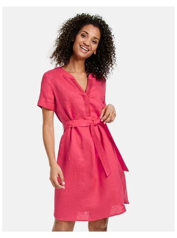 TAIFUN Kleid Langarm kurz in Rot