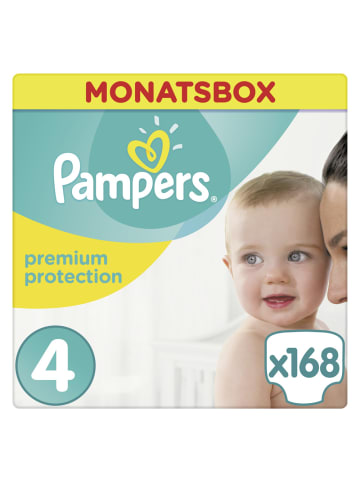 """Pampers MonatsBox """"Pampers Premium Protection"""" Gr.4 Maxi, 9-14kg (168 Stück)"""